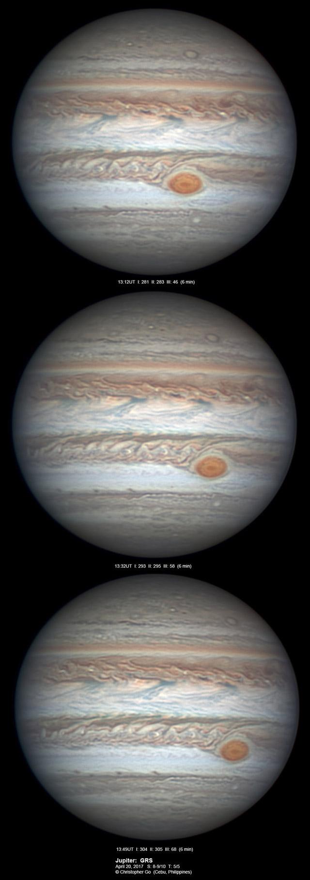 Jupiter on April 20, 2017