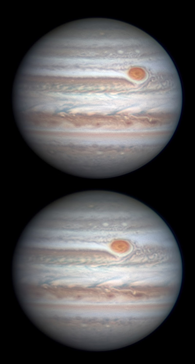 Jupiter with Great Red Spot on Feb. 26, 2018