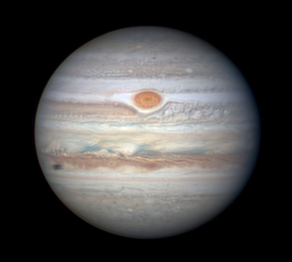 Jupiter with Great Red Spot on June 28, 2018