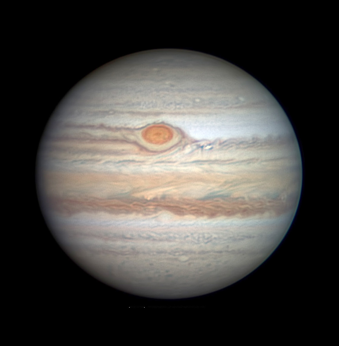 Jupiter with Great Red Spot on May 12, 2019