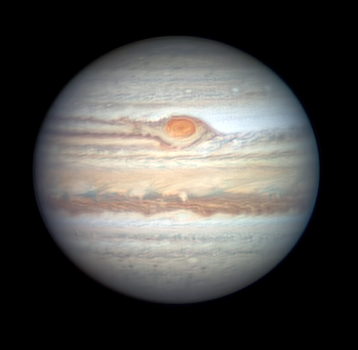 Jupiter with Red Spot on May 29, 2019