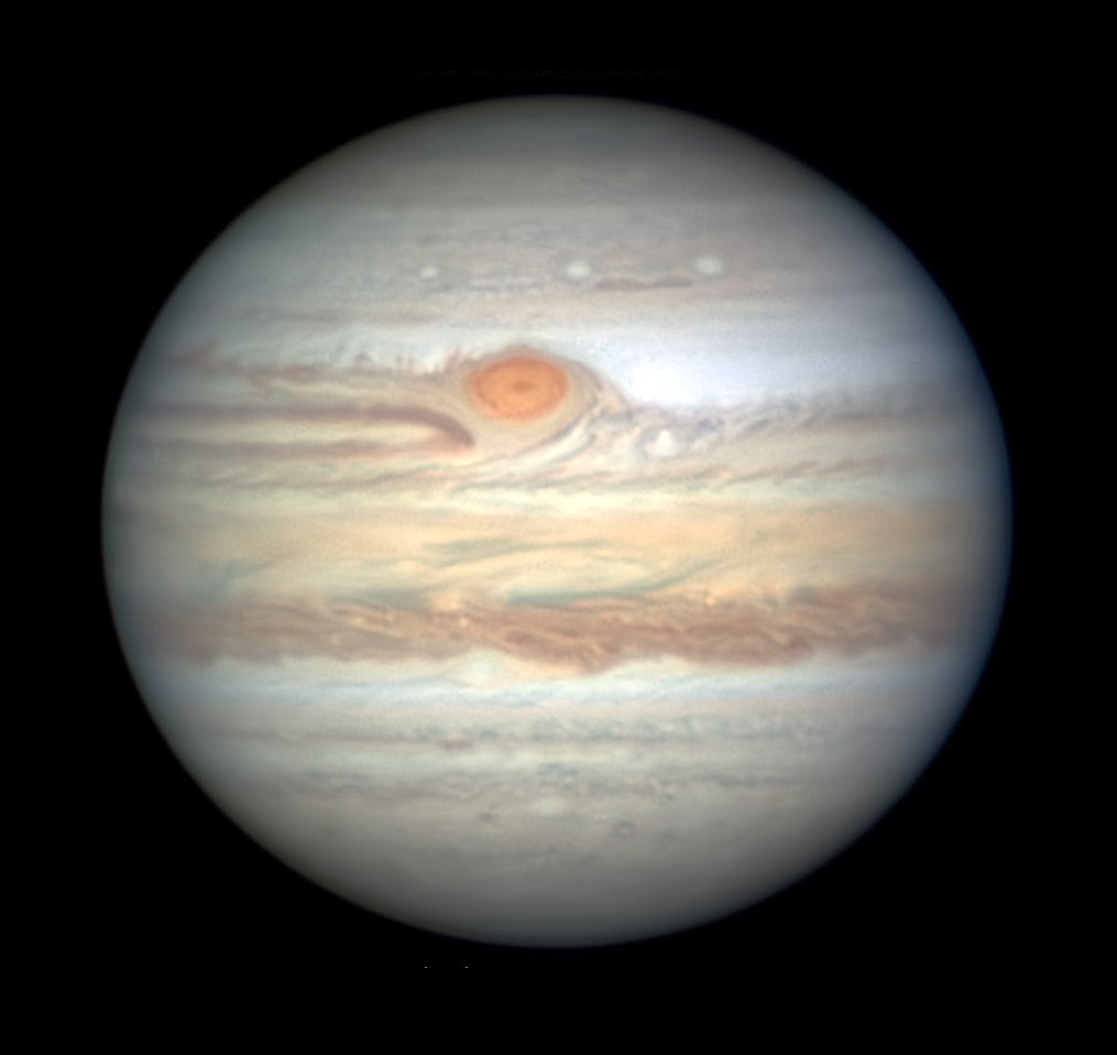 Jupiter with Great Red Spot on June 17, 2019