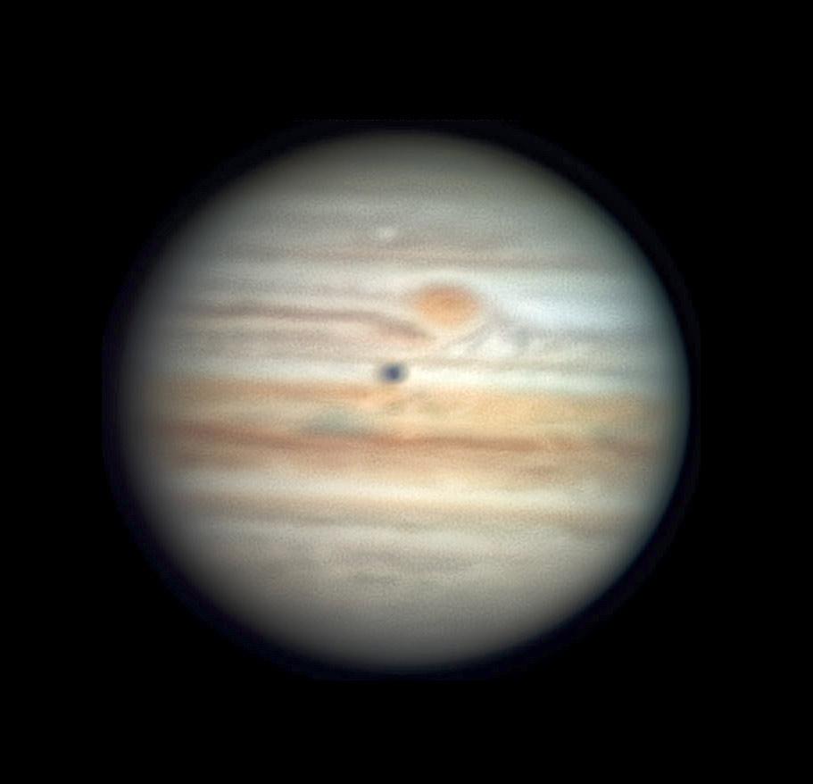 Jupiter with Callisto in transit, April 3 2021