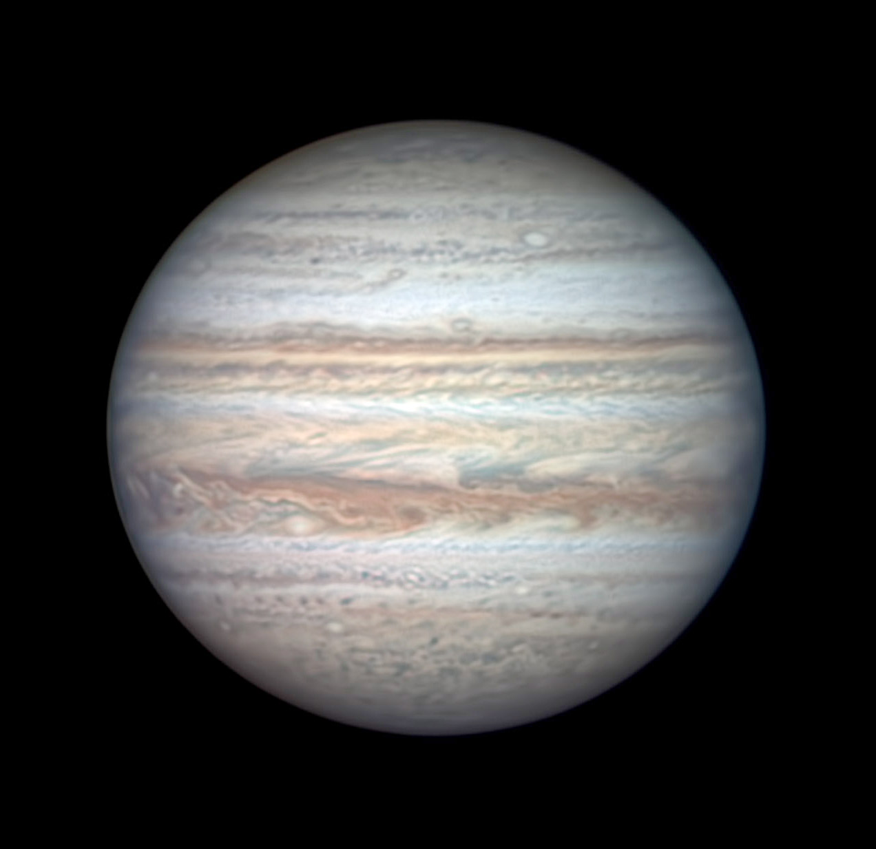 Jupiter on July 26, 2020 (non-Great-Red-Spot side)
