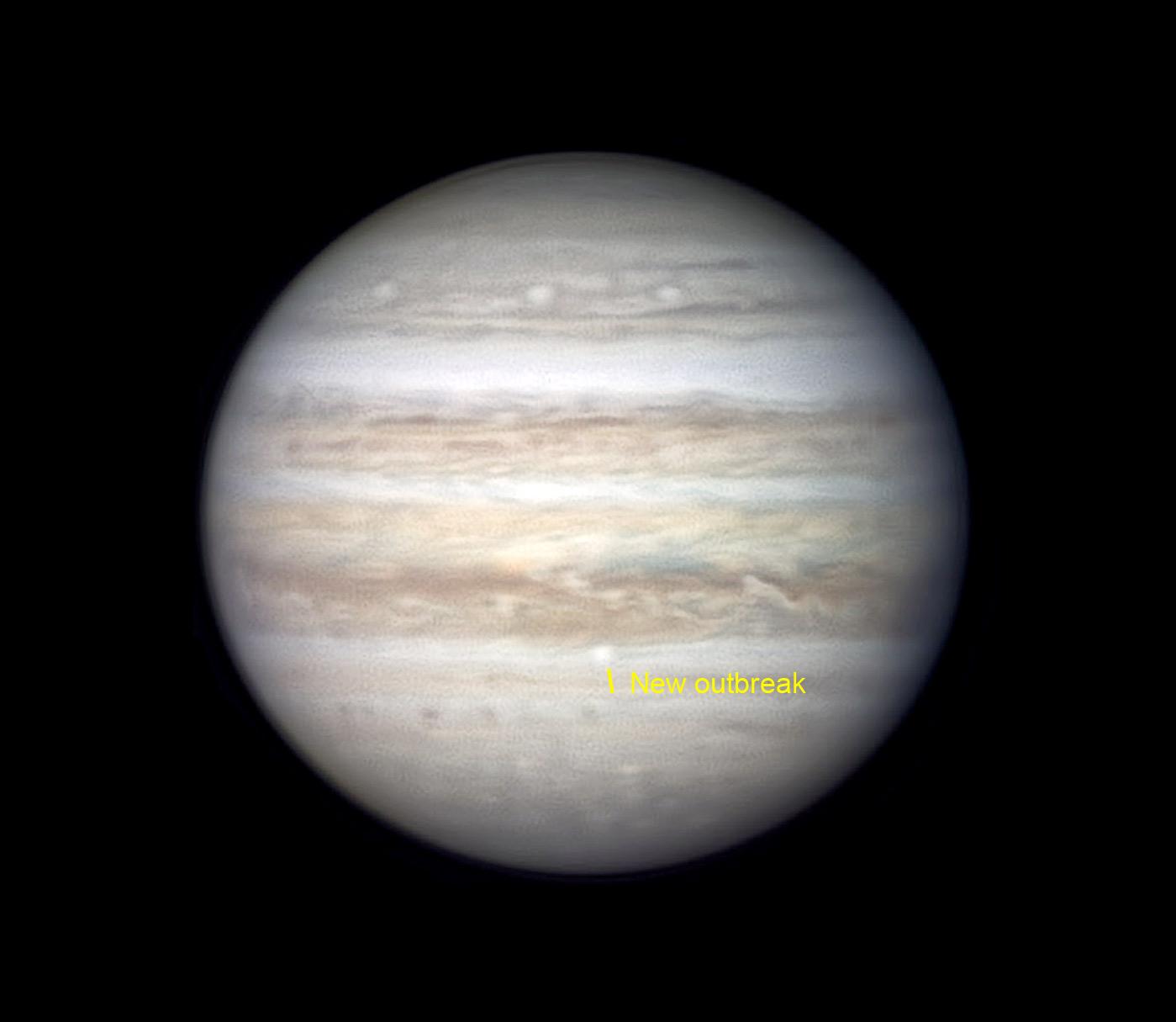Jupiter's new storm