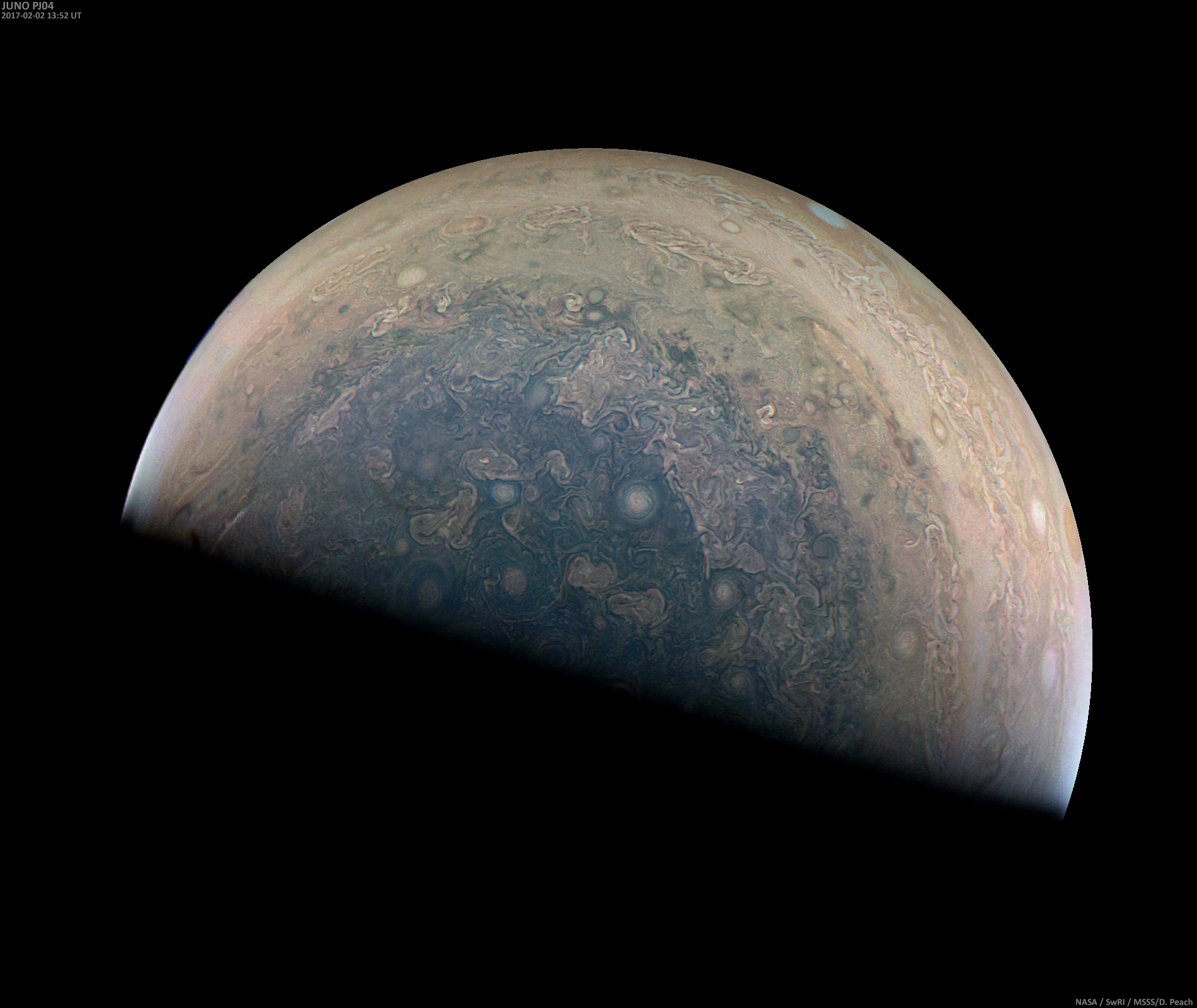 Jupiter by Juno, Feb. 2, 2017