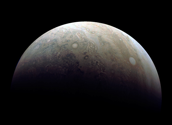Jupiter by Juno, Dec. 11, 2016, processed by Damian Peach