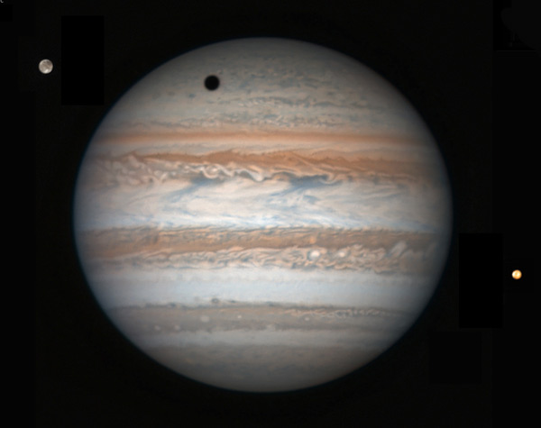 Jupiter, Ganymede, and Io March 17, 2017