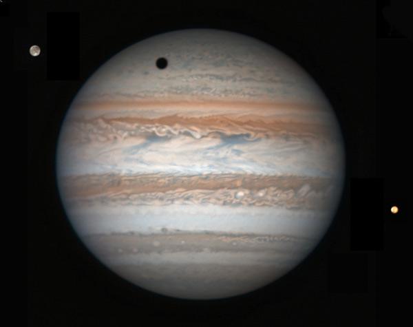 Jupiter, Ganymede, and Io March 17, 2017