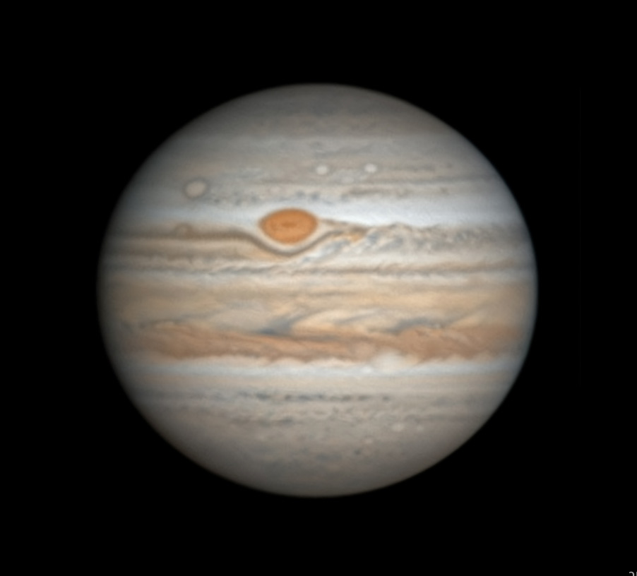 Jupiter with Great Red Spot on Feb. 2, 2019