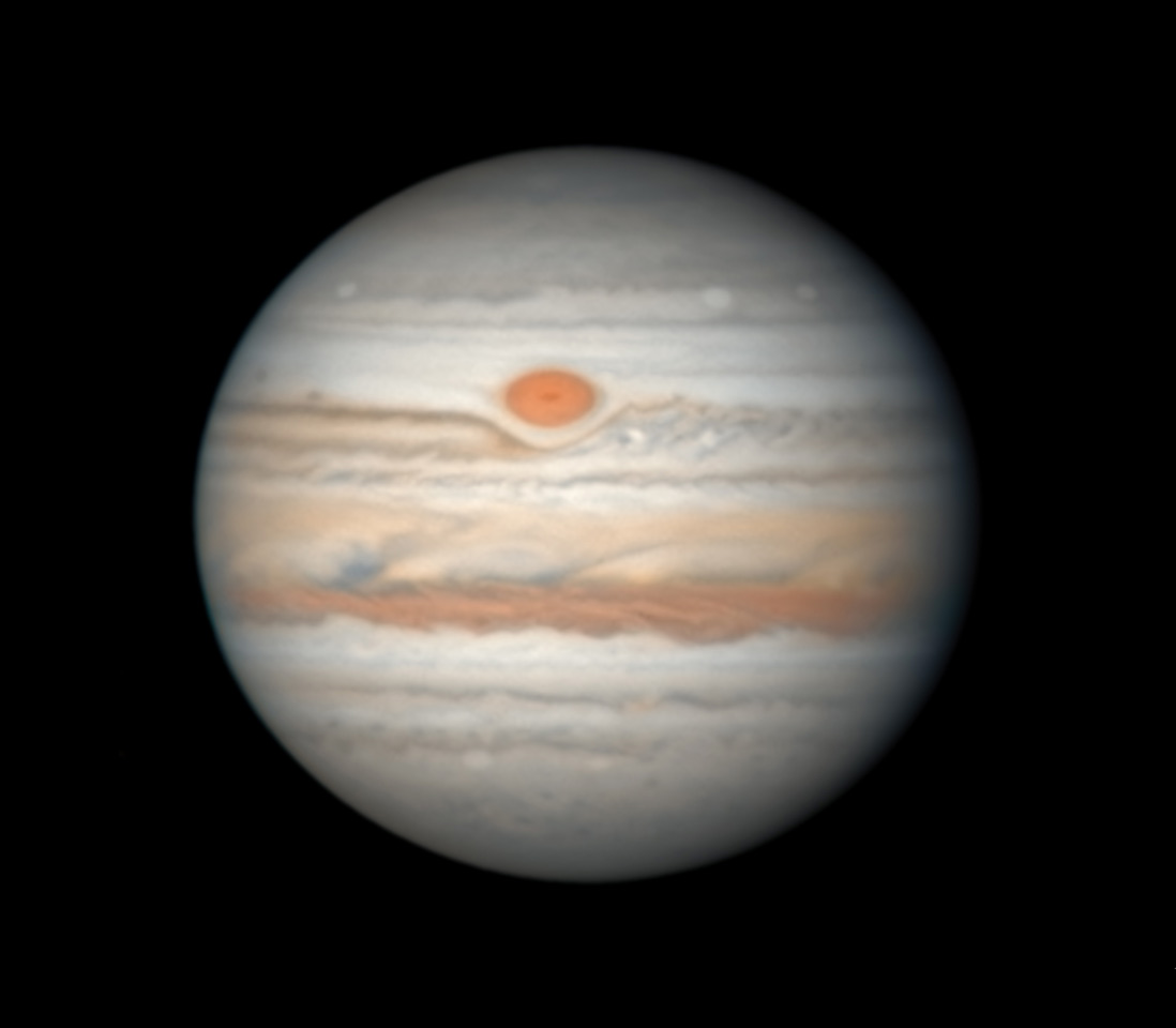 Jupiter with Red Spot, Aug. 27, 2019