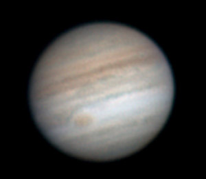 Jupiter with Red Spot of July 26, 2007