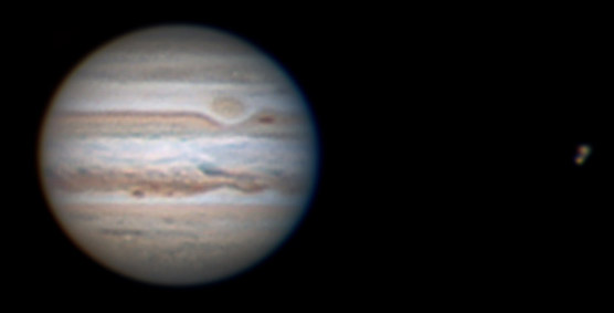 Jupiter on the evening of Sept. 2, 2009