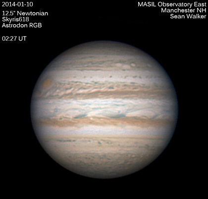 Jupiter on January 9–10, 2014