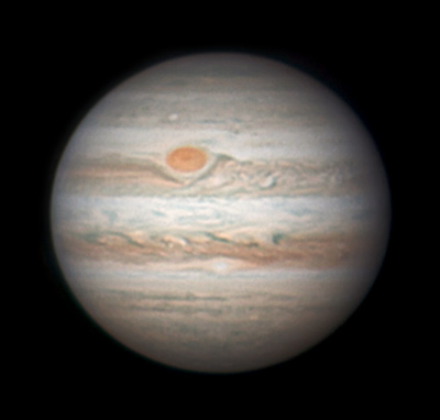 Jupiter with Great Red Spot, April 21, 2016