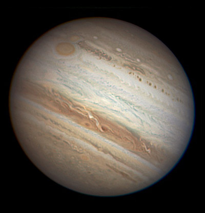 Jupiter with two red spots, Aug. 30, 2010