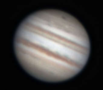 Jupiter's black impact scar on the night of July 20, 2009