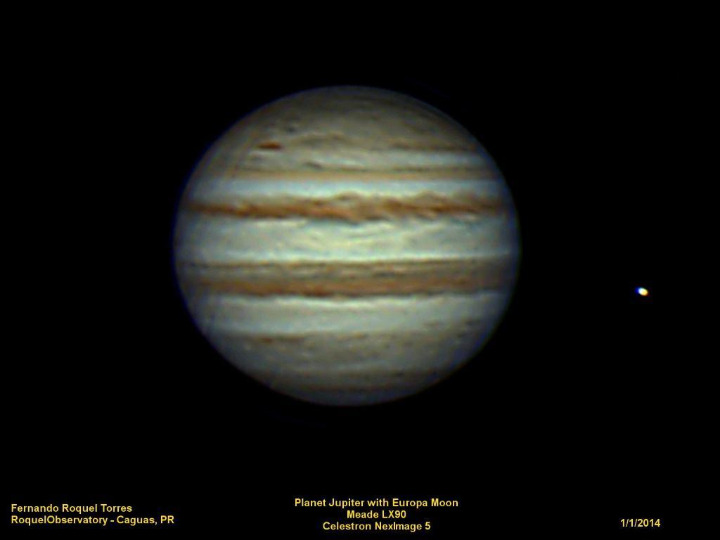 Planet Jupiter with Europa Moon | Fernando Roquel Torres ...