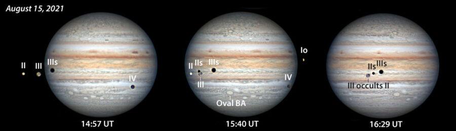 Jupiter moon events