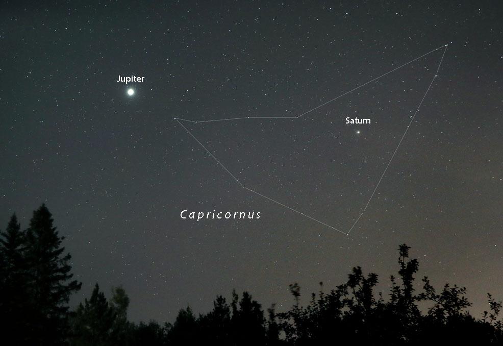 Jupiter and Saturn in Capricornus