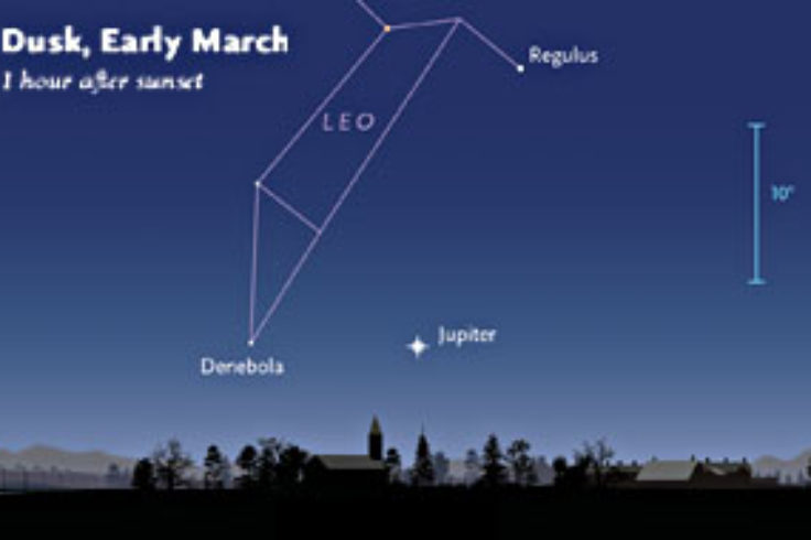 Jupiter and Leo in early March