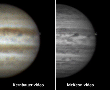 Jupiter flash comparison