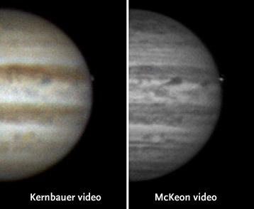 Jupiter flash comparison