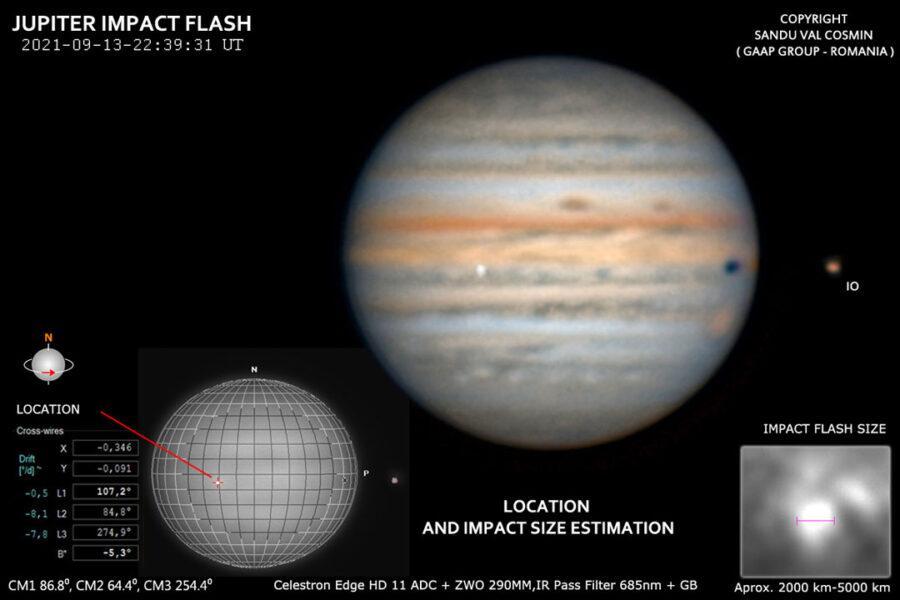 Jupiter impact from Romania