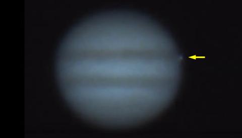 Jupiter impact by Gerrit Kernbauer
