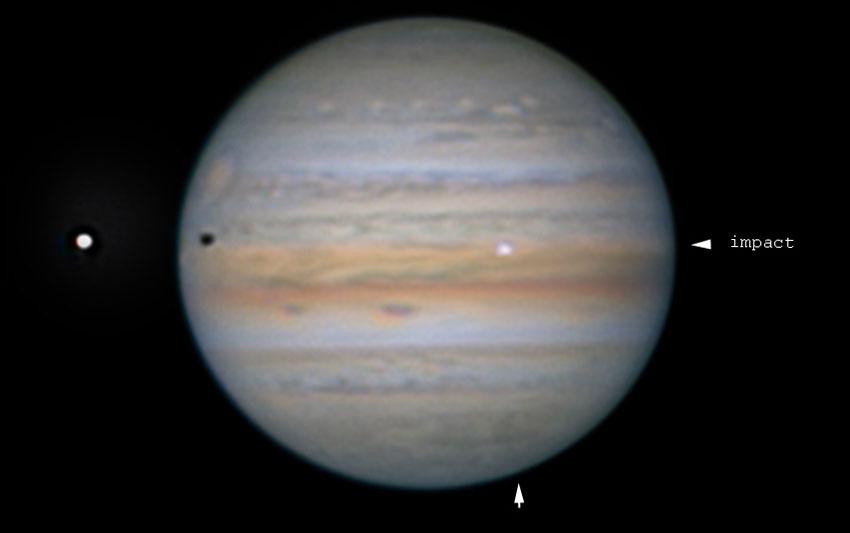 Jupiter impact flash