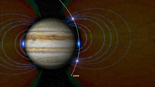New radiation zone around Jupiter