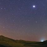 Jupiter among evening stars