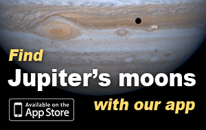 Use S&T's JupiterMoons app to track the celestial dance of the Galilean moons!