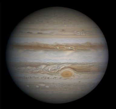 Jupiter's appearance in February 2014