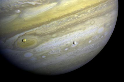 Jupiter with Io and Europa in the foreground