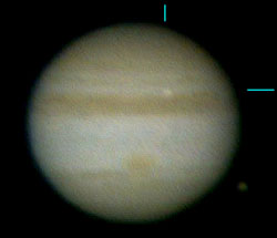 Jupiter flash on August 20, 2010