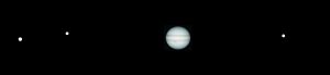 Jupiter and its satellites