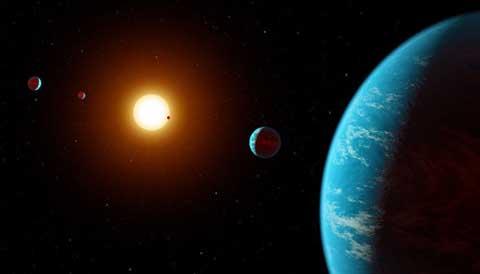 K2-138 planetary system art