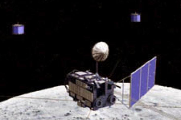 Kaguya in lunar orbit