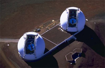 Keck's twin telescopes