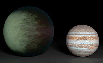 Kepler-7b and Jupiter