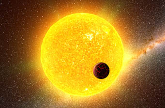 Sunlike star and planet
