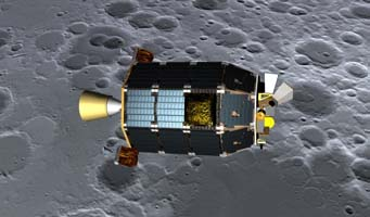 LADEE over the Moon