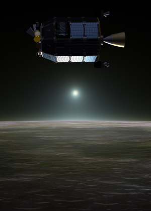 LADEE at lunar sunset