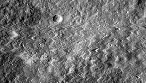 LRO image during tiny impact