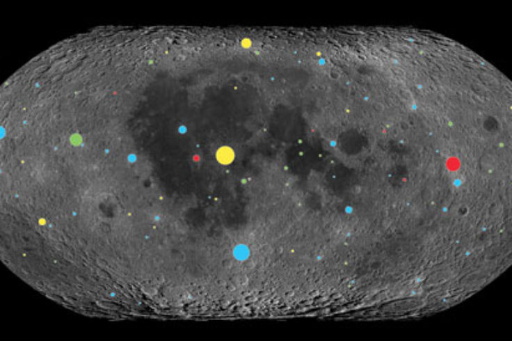 Craters on the Moon, by age