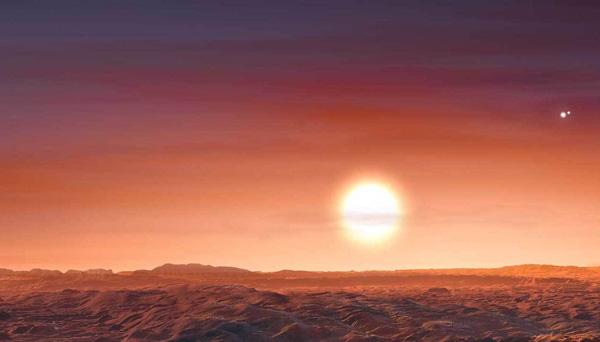 Three red suns