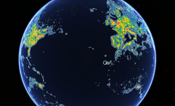 World Map of Light Pollution