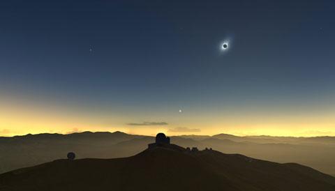 La Silla Total Solar Eclipse simulation