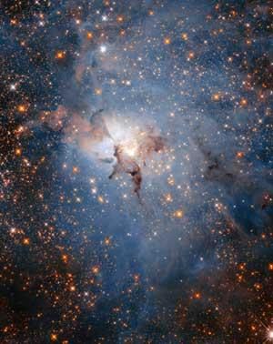 Lagoon Nebula in near-infrared light